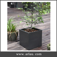 Arlau outdoor park large metal planter