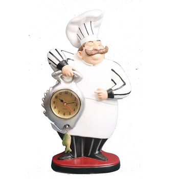 Surprising Hand Painted Resin Indoor Kitchen Chef Figurine Clock Decor Buy Resin Kitchen Decor Clock Chef Decoration Product On Alibaba Com Home Interior And Landscaping Transignezvosmurscom