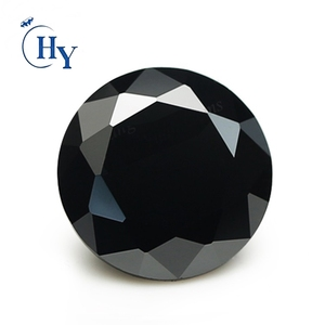 Synthetic Round Brilliant cut black gemstones names 3.5mm cz stones