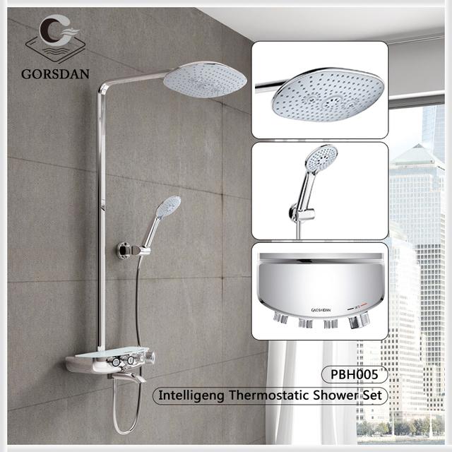 Bon Modern Exposed Shower Set Bathroom Fixture Waterfall Shower Faucets