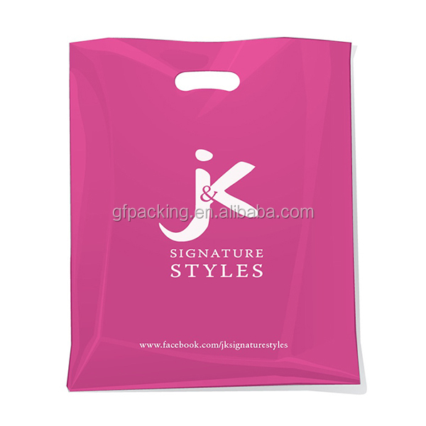 Custom die cut plastic bag a4 size, plastic bag a4 size