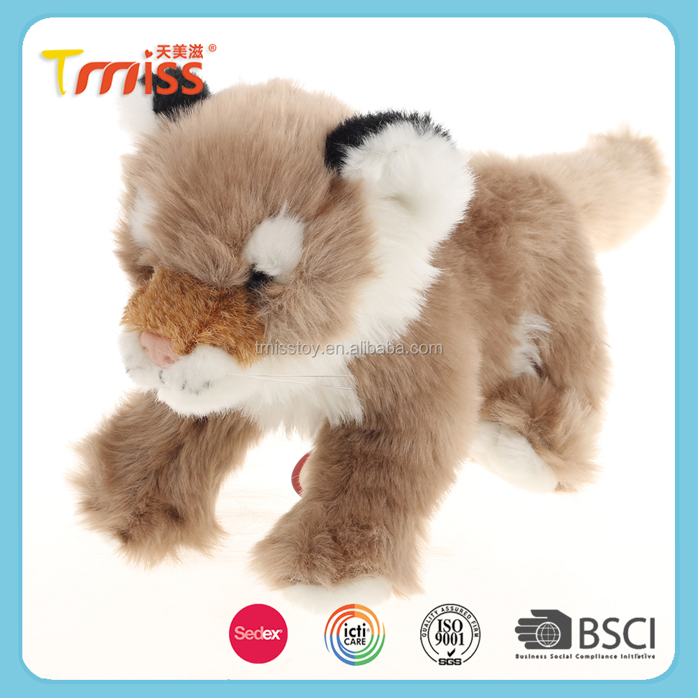 2017 Custom animal plush forest toys soft stuffed toy tiger for kids