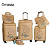 New Model Fashion Designer OEM Leather Carved Hollow Carry On Suitcase Set Travel PU Luggage Bags