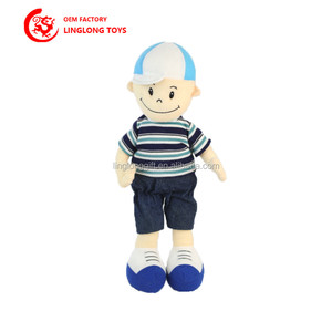 Factory Custom Lovely Mini Baby Dolls With Clothes A Boy With Headgear Plush Toys Item Of Human Dolls