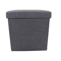 Reusable Foldable Storage Ottoman With Lid