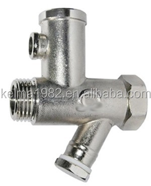 Brass safety valve for water heater FMBR092