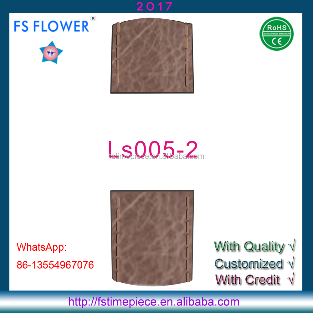 FS FLOWER - LS001 Genuine Leather Strap Planted Texture Western Watch Band