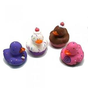 12 Sweet Treat Cupcake Ice Cream Rubber Ducks by Oriental Trading Company