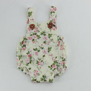Floral Printed Cotton Romper Infant Toddler Clothing Newborn Baby Clothes