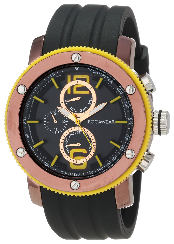 Buy Rocawear Mens Rm0116t1 010 Stylish Bracelet Enamel Bezel Watch