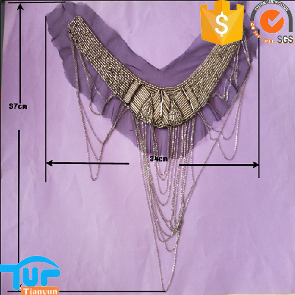 Hot sale embroidery collar beaded neck lace designs