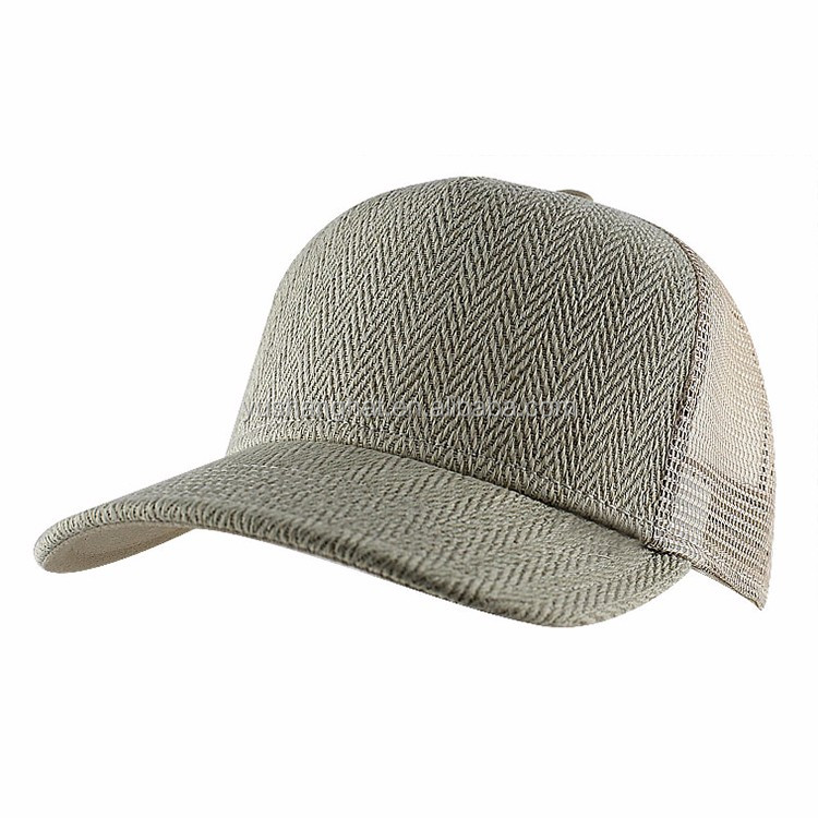 Custom high quality structured plain color mesh trucker cap for unisex