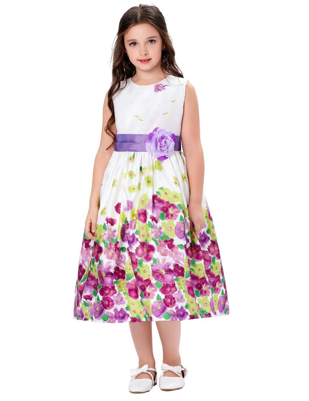 2cd560226aa00 Grâce Karin Lavande Fleur Motif Fleur Fille Princesse de Demoiselle  D honneur De Mariage De