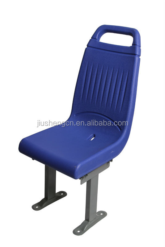 Blow molded plastic bus seat