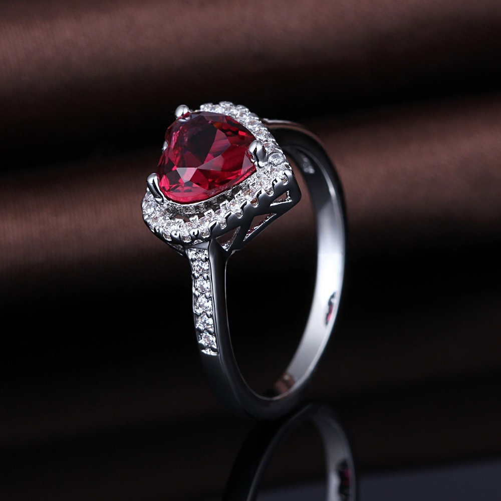Unique On Sale Women Jewelry 925 Sterling Silver Ruby Rings