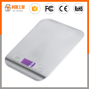 5KG 3KG LCD cooking digital multifunction electronic stainless steel scale food weighing scale kitchen scale with CE ROHS
