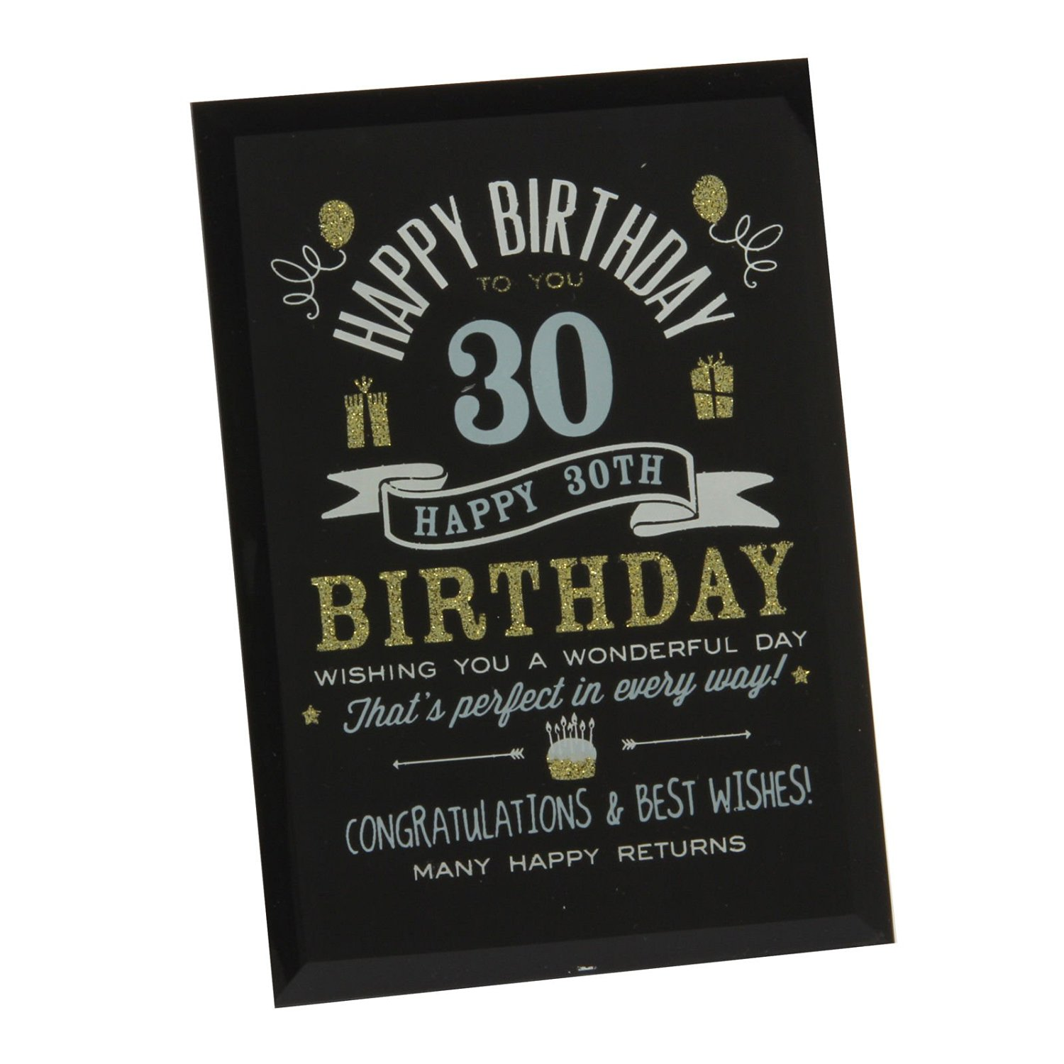 Get Quotations 30Th Birthday Gift Ideas Glass Plaque For Him Her Friends Grandparents