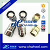 Premium Car Vehicle Security Chrome Closed 4+2 Wheel Lock Nut Set M12x1.5