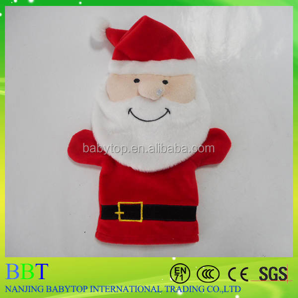 wholesale toy from china 100% polyester santa claus toy custom hand puppet