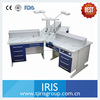 Modern office furniture triple person workstation for three detnal technicians in big dental labs