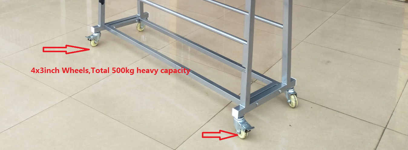 Grocery Store Heavy Duty Double Side Metal For Textile Fabric clothes Roll Display Racks
