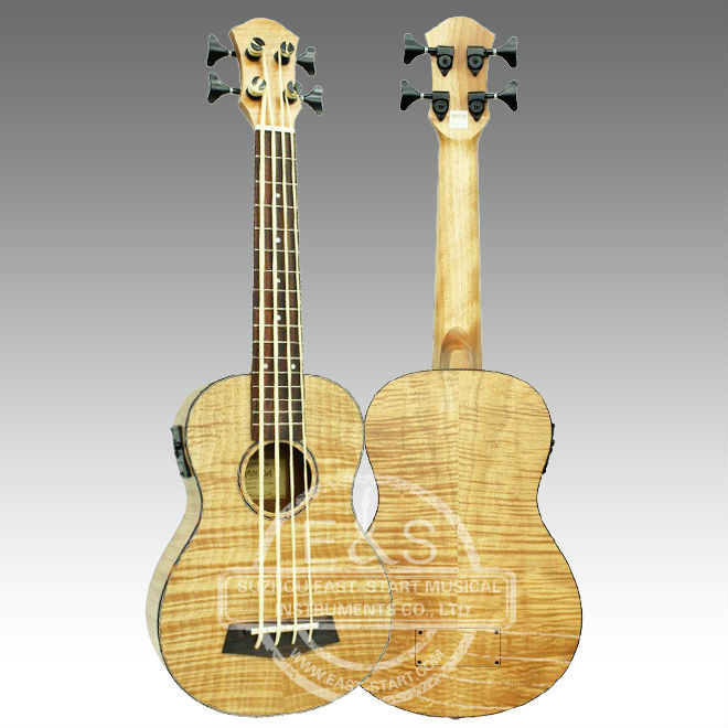 30inch Flamed Maple Electric Ukulele Bass