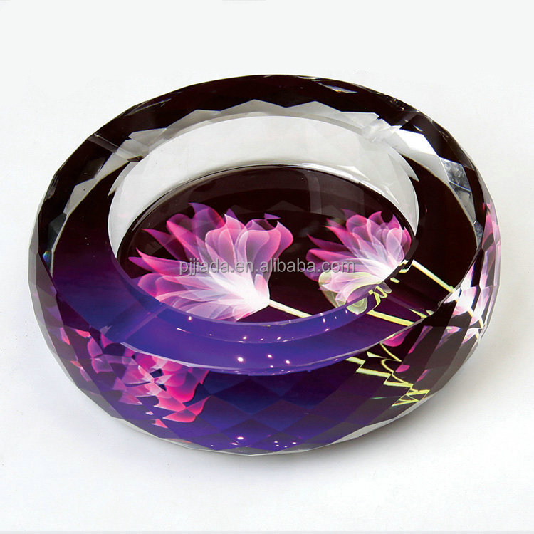 Creative novel crystal handicraft office supplies home decoration items business gifts crystal ashtray
