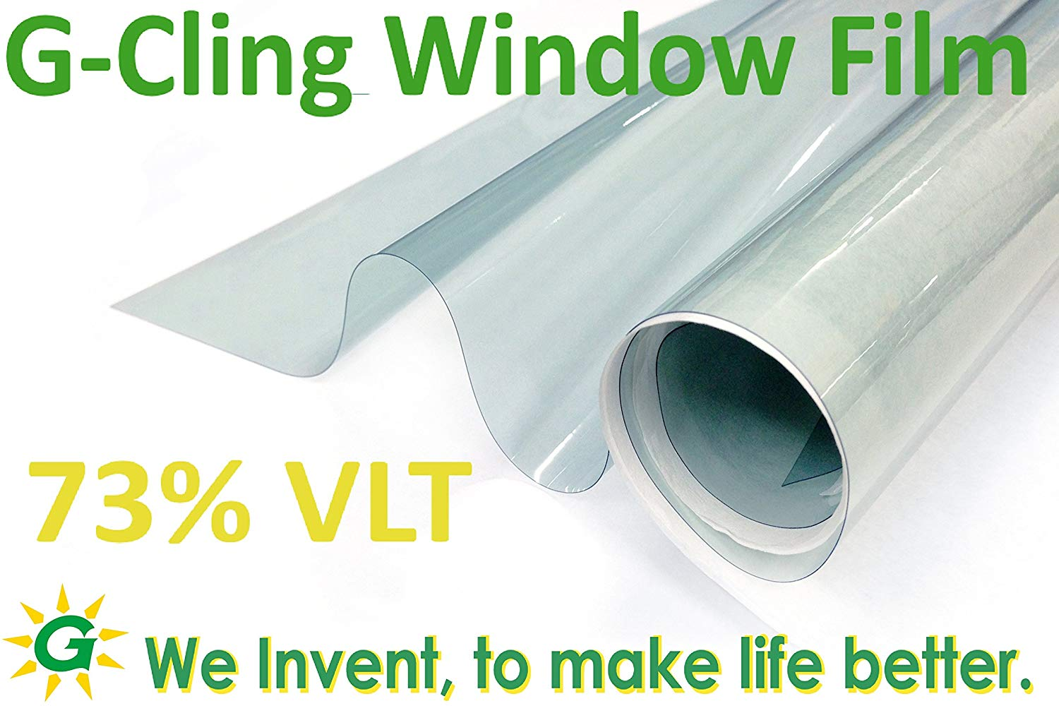 """G Greenfilm Static Cling Window Tint 73% Easy DIY for Home and Residential (24"""" x 81.6"""")"""