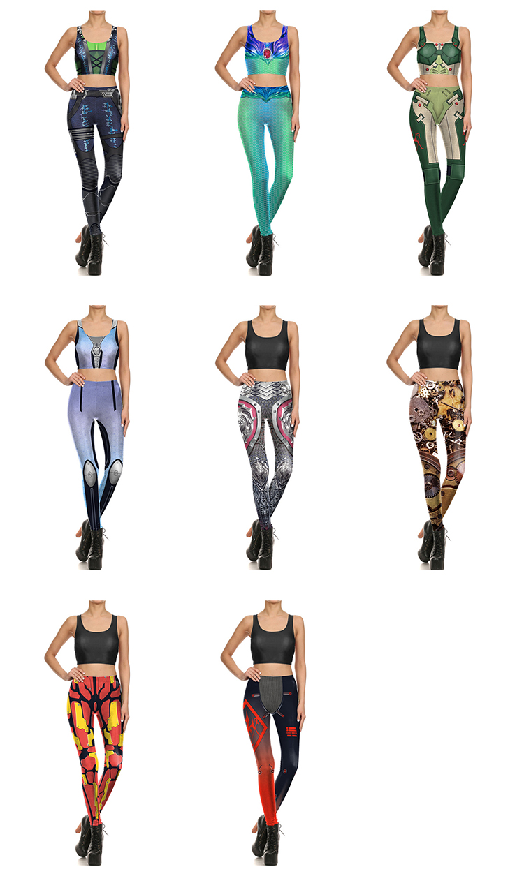 Wholesale Printed Workout Gym Custom Sport HIGH WAIST Yoga Legging For Women