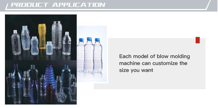 Hand Fütterung Automatische PET Kunststoff Flasche Blasformen Maschine