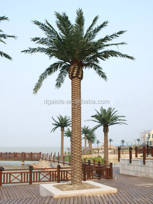 High Imitation Artificial Canary Date Palm Tree Tops In Uv Proof