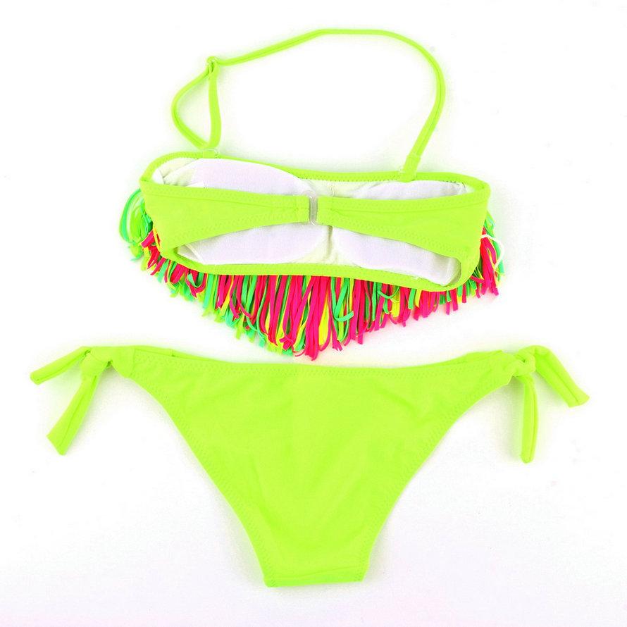 d2a7ed7ea2 Bikini Swimsuit Fluorescent For Girls Children Kids Swimwear Fashion Color