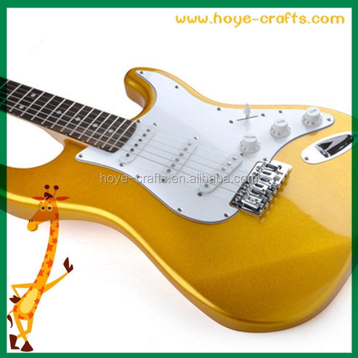 yellow wooden guitar christmas gifts spiccato electric guitar
