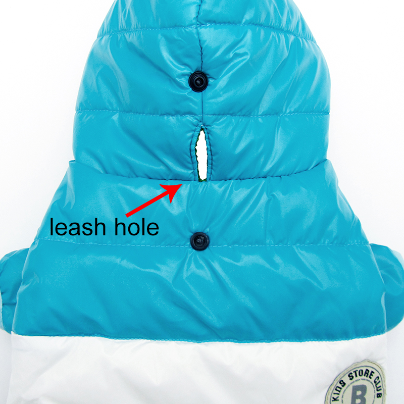 Waterproof and Hooded Dog Jacket with Leash Hole Ideal for Autumn/Winter Season 8