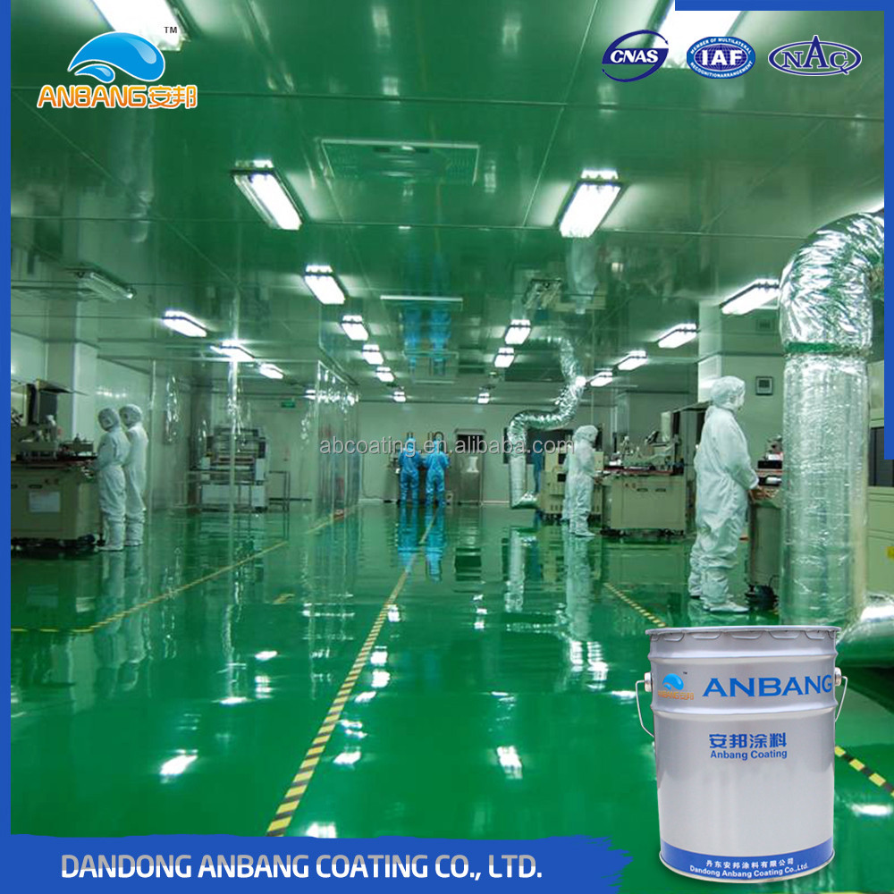 AB-DP-300M brushable two part hard wearing antislip epoxy based floor coating with high filling high gloss high adhesion