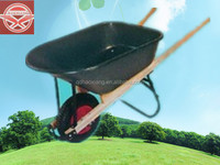 Garden Folding Material Handling Tool Wheelbarrow WH7601 With Wooden Handle Metal Tray