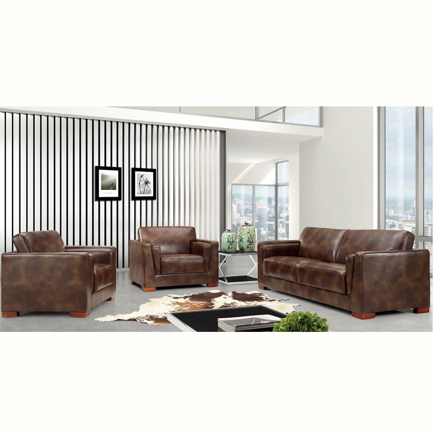 foshan factory extra large real genuine leather sectional sofa modern