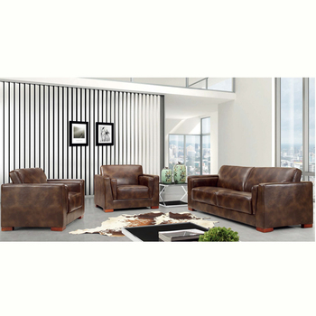 Foshan Factory Extra Large Real Genuine Leather Sectional