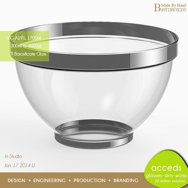 Mircowave Borosilicate Glass Mixing Bowl