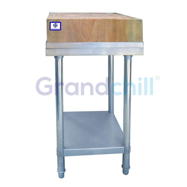 Stainless Steel Fish Cleaning Table At Kitchen Outdoor With Wooden Top Buy Stainless Steel Fish Cleaning Table Product On Alibaba Com
