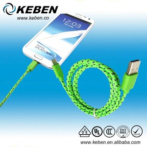 Durable micro usb 2.0 cable nylon braided