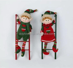 Xmas Gift 2018 Custom Cute Stuffed Soft Toy Couple Plush Christmas Elf Doll