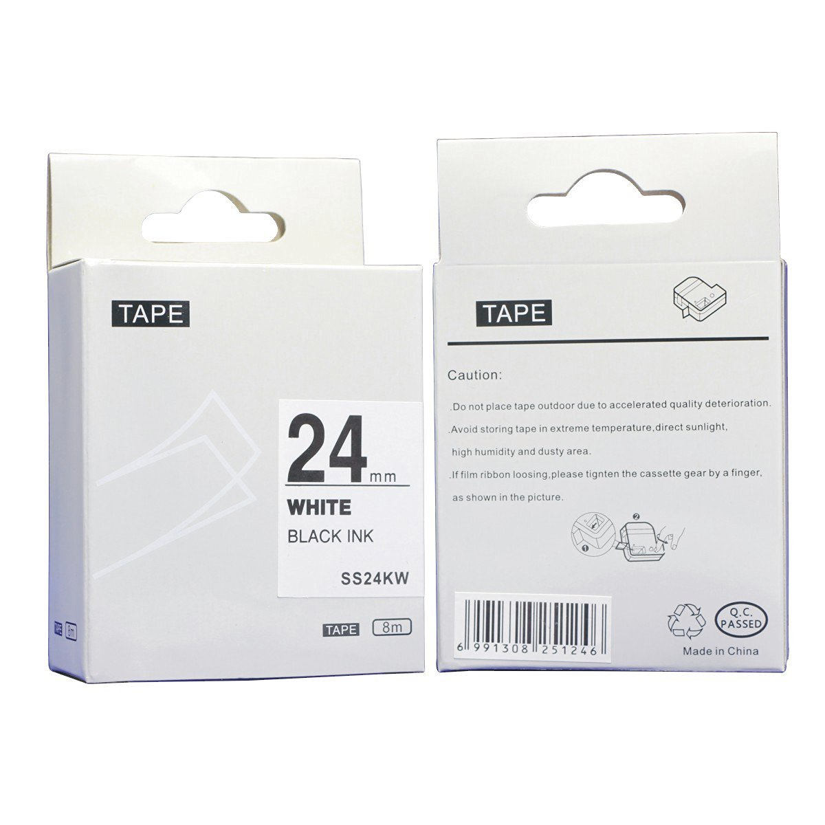 NEXTPAGE174;New compatible label tape for Epson LC-6WBN9(SS24KW) black on white 24mm8m use with Epson LM-700,LW-900P,OK500P, OK720,OK900P