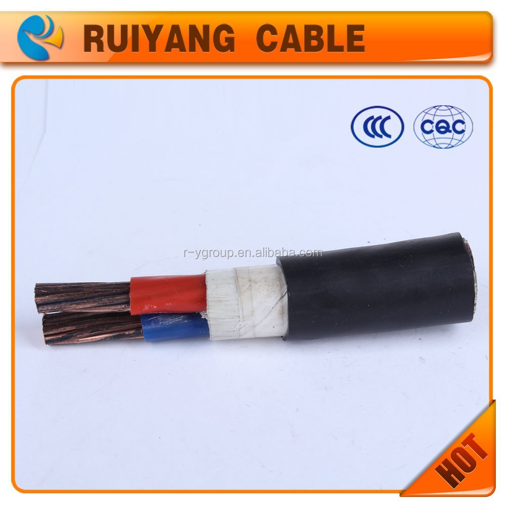2 cores low voltage Cu conductor XLPE insulated PVC sheathed power cable- YJV-2*70