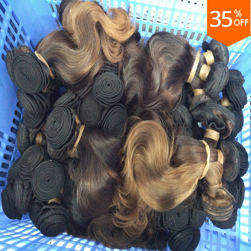 wholesale hair 10 pieces cheap mocha colored natural brazilian virgin hair noble gold brown body wave hair weave free shipping