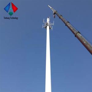 single pipe telecommunication high quality radio communication equipment  steel monopole tower