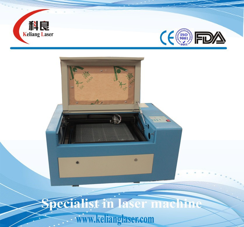 50w laser tube, lifting working table and Red light positioning mini laser engraving and cutting machine KL-340