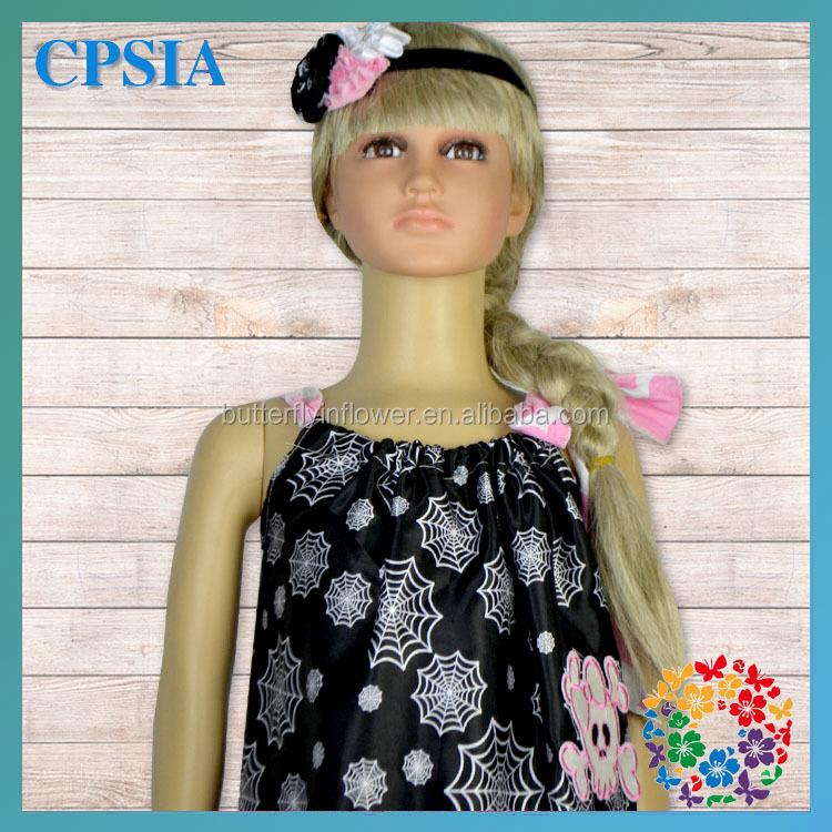 Black White Spider Halloween Toddler Pillowcase Dress Halloween Fancy Dress Ideas With Headband Set Outfits - Buy Halloween Fancy Dress IdeasToddler ...
