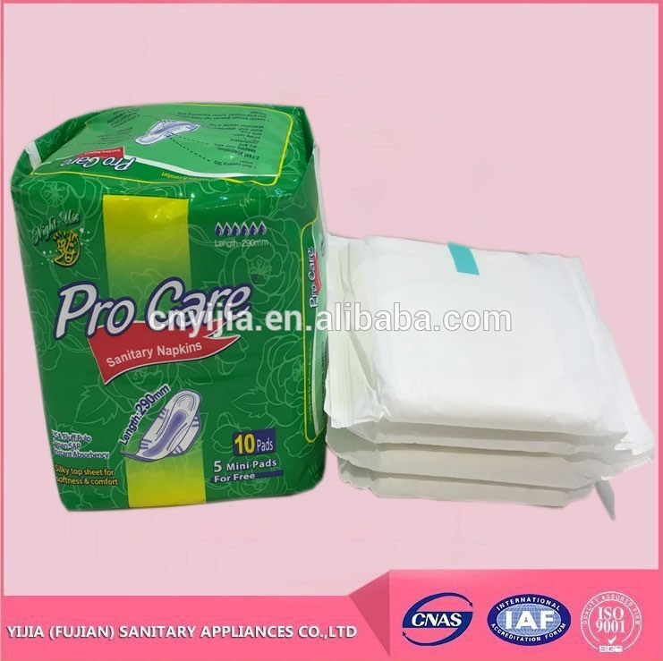 OEM Cotton sanitary napkin disposable sanitary pad for lady use