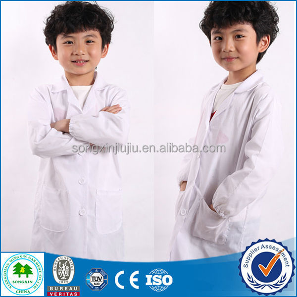 2015 Fashion New Style Kids Lab Coats Cheap/Lab Coats Wholesale Kids/Lab Coat Child Paypal